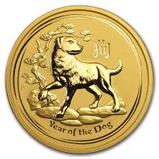 Gold Coin Australian Lunar Year of the Dog 2018 - 2 Oz