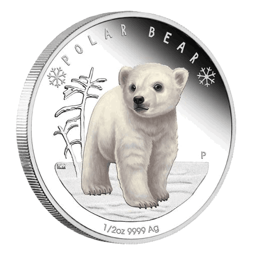 Silver Numismatic Polar Bear 1/2 oz Proof Coin 2017