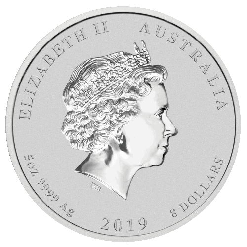 Silver Coin Australian Year of the Pig 2019 5 oz | Metal Money